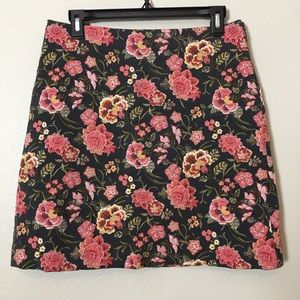 Ann Taylor Loft Floral Pink pencil skirt high rise